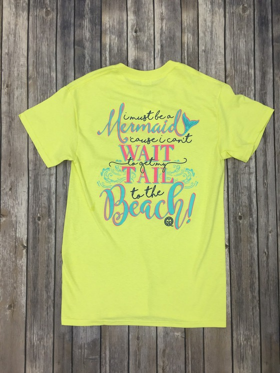 girlie girl originals must be a mermaid tee
