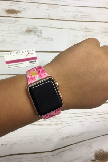 Lilly Pulitzer Inspired First Impressions apple iwatch band